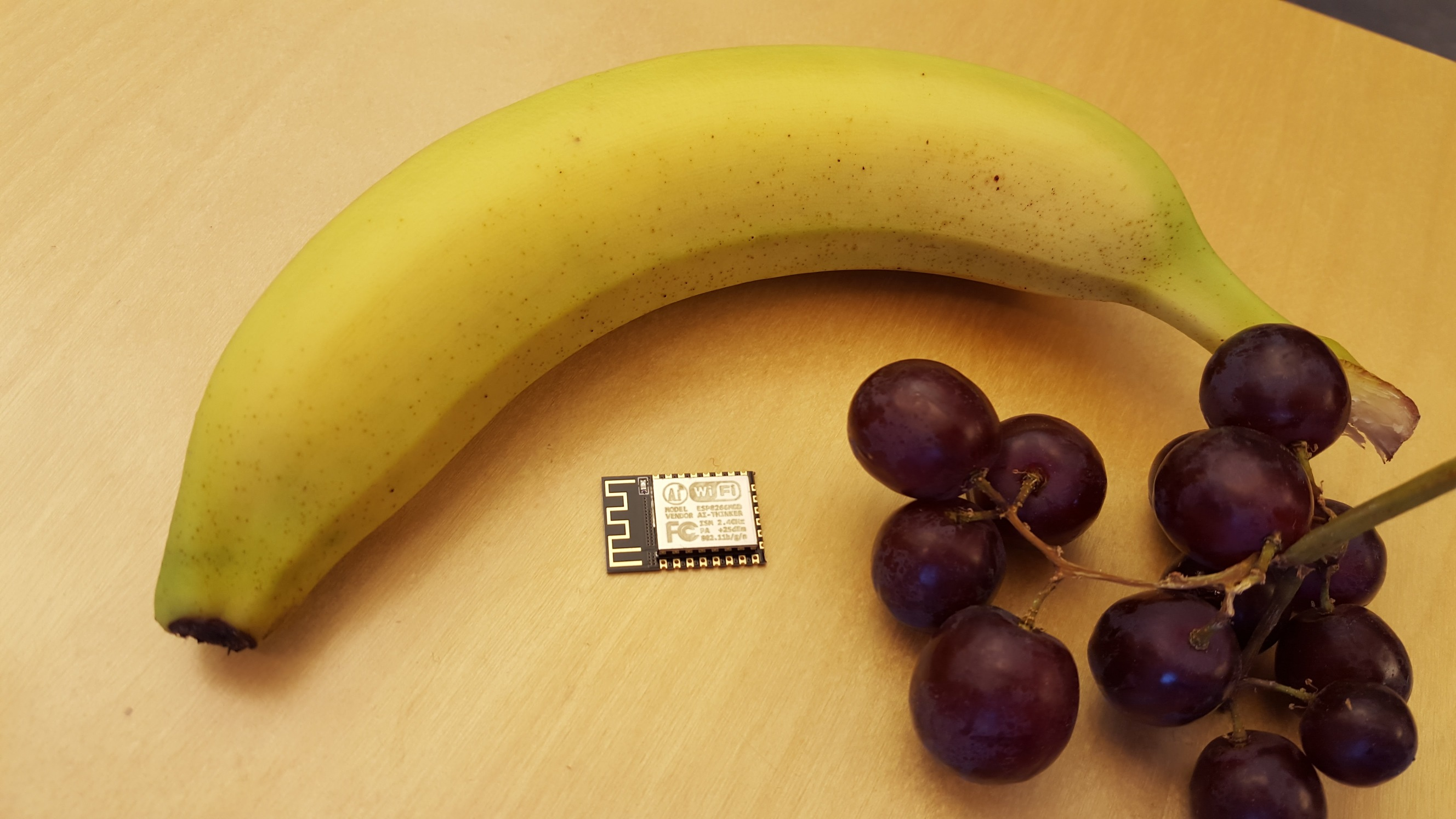 ESP-12E and a banana for scale